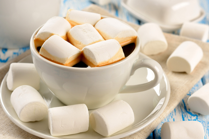 Marshmallow and Coffee wallpaper