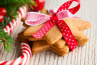 Free Ginger Bread Star Cookies Picture for Android, iPhone and iPad