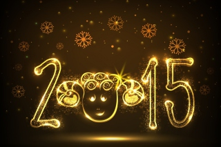 Free Golden Lights Happy New Year 2015 Picture for Android, iPhone and iPad