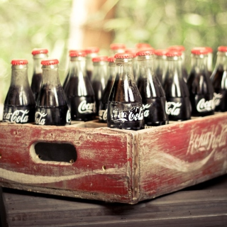 Vintage Coca-Cola Bottles Background for 208x208