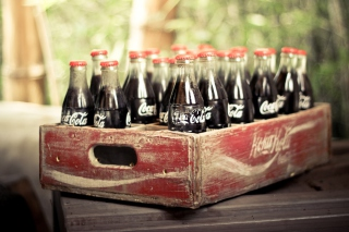 Vintage Coca-Cola Bottles Wallpaper for Android, iPhone and iPad