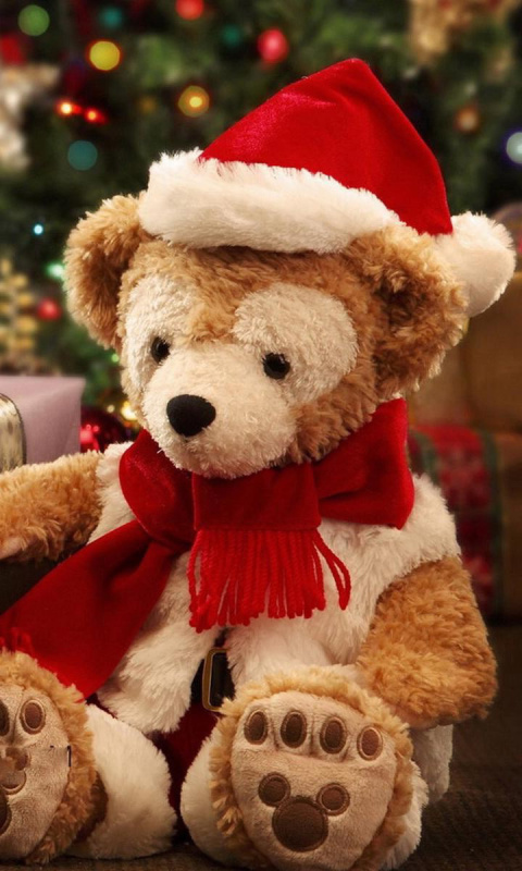 Screenshot №1 pro téma Christmas Teddy Bears 480x800