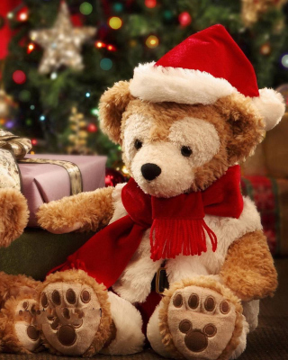 Christmas Teddy Bears Wallpaper for Nokia C1-01