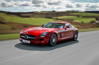 Free Red Mercedes Benz SLS AMG Picture for Android, iPhone and iPad