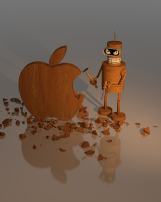 Bender Against Apple - Obrázkek zdarma pro iPhone 6 Plus