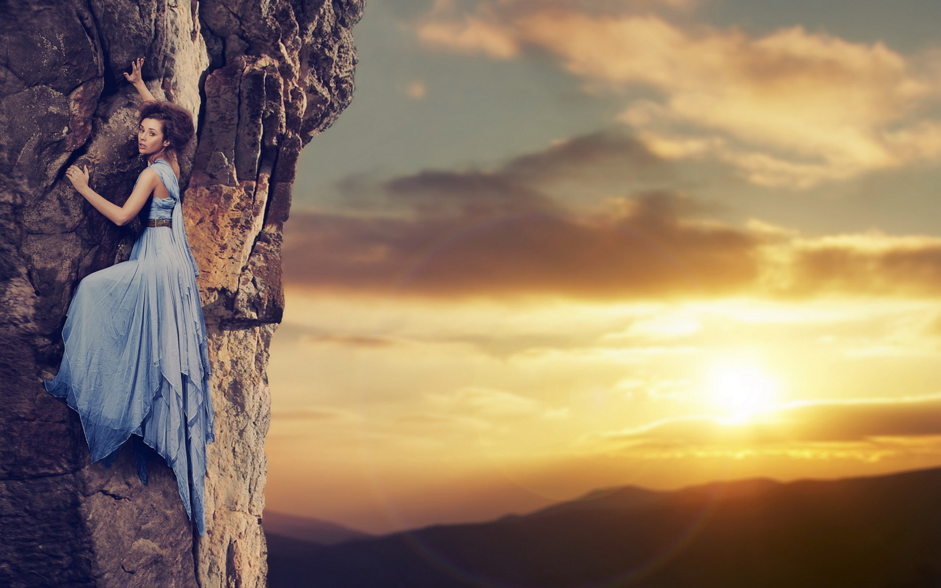 Fancy Mountain Climbing Wallpaper for Widescreen Desktop ...