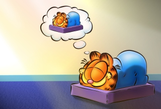 Kostenloses Garfield Sleep Wallpaper für Android 320x480