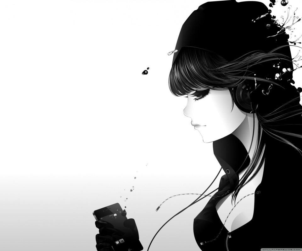 Screenshot №1 pro téma Girl Listening To Music 960x800