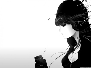 Girl Listening To Music sfondi gratuiti per HTC EVO 4G