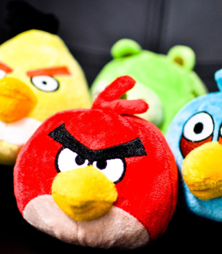 Angry Birds Plush Toy Wallpaper for iPhone 6 Plus