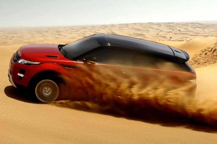 Range Rover Evoque Dubai wallpaper