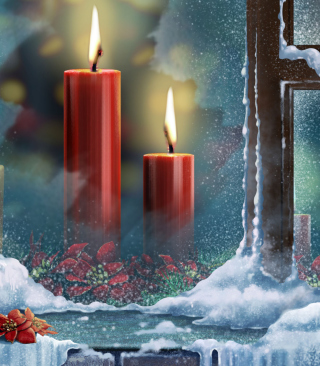 Free Red Candles Picture for iPhone 6 Plus