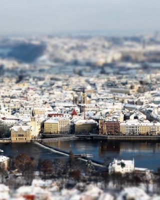 Картинка Prague Winter Panorama для телефона и на рабочий стол Nokia C2-02