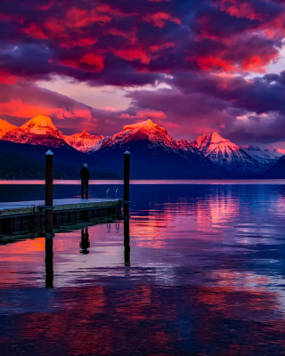 Free Lake McDonald in Glacier National Park Picture for 240x320