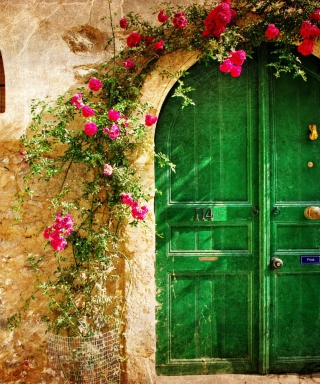 Picturesque Old House Door sfondi gratuiti per 768x1280