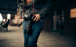 Girl With Photocamera - Fondos de pantalla gratis