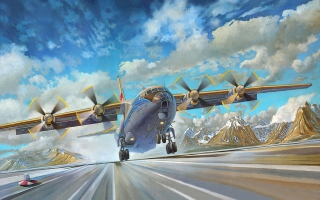 An-12BK Soviet Aircraft Background for Android, iPhone and iPad