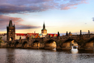 Charles Bridge In Prague sfondi gratuiti per 1200x1024