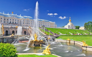 Peterhof In Saint-Petersburg Wallpaper for Android, iPhone and iPad