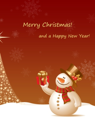 Free Snowman New Year 2013 Picture for 1080x1920