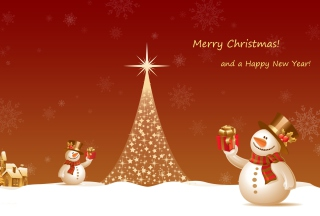 Snowman New Year 2013 sfondi gratuiti per cellulari Android, iPhone, iPad e desktop