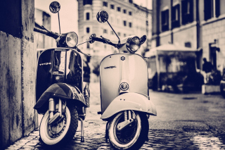 Vespa Scooter Wallpaper for 480x320