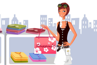 Shopping In Store Background for Android, iPhone and iPad