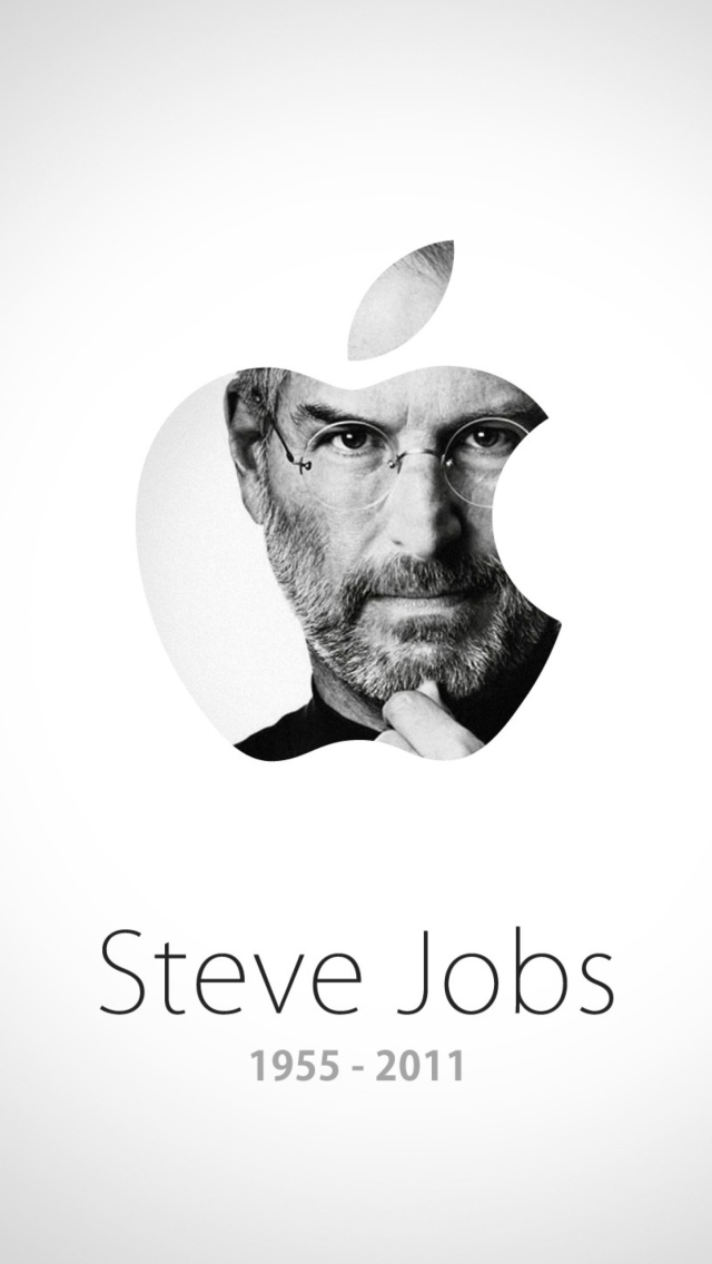 Steve Jobs Apple wallpaper 640x1136