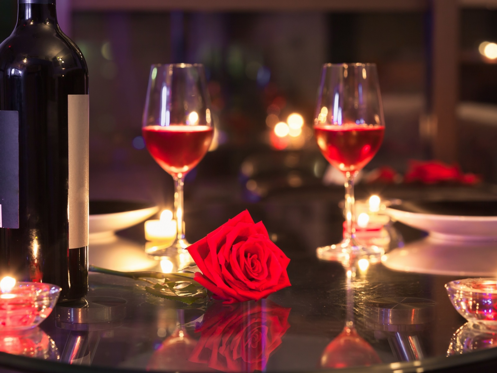Screenshot №1 pro téma Romantic evening with wine 1600x1200