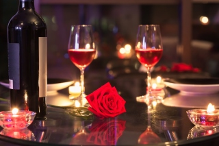 Romantic evening with wine Background for Fly Levis