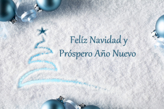 Feliz Navidad y Prospero Ano Nuevo Background for Android 480x800