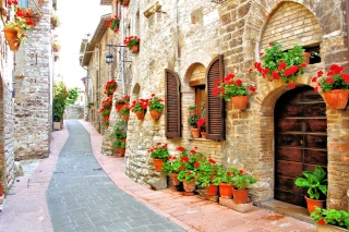 Italian Streets on Garda Background for Android, iPhone and iPad