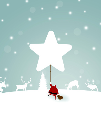 Screenshot №1 pro téma Santa Claus with Reindeer 352x416