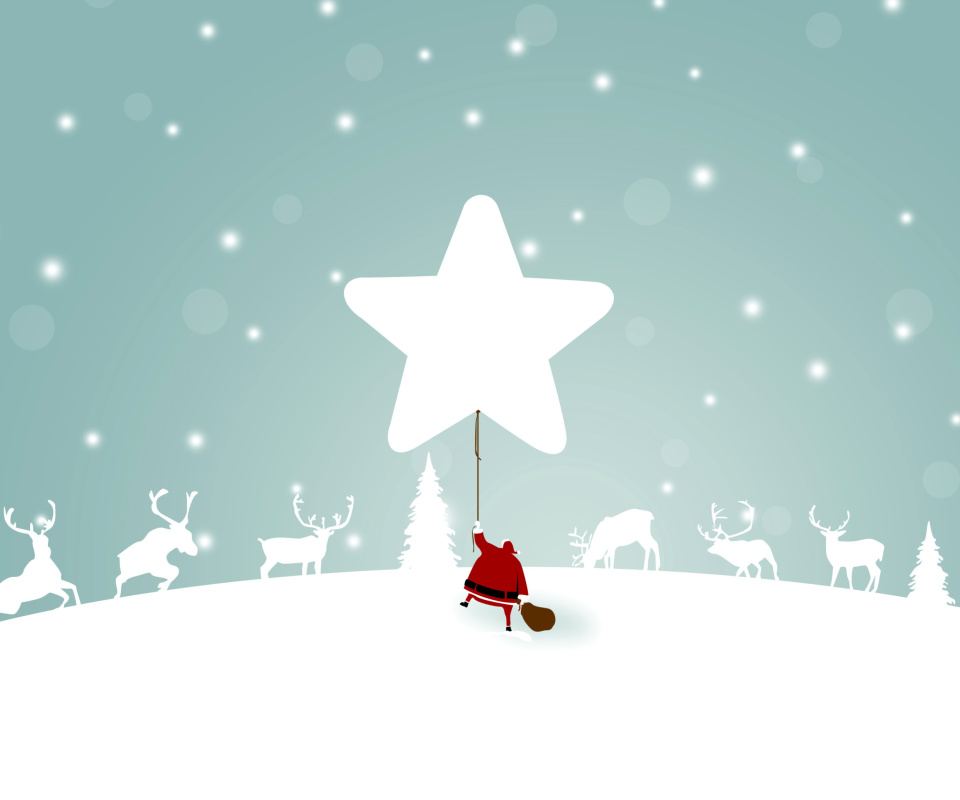 Screenshot №1 pro téma Santa Claus with Reindeer 960x800