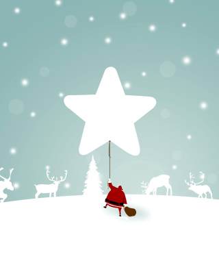 Santa Claus with Reindeer Background for Nokia X2