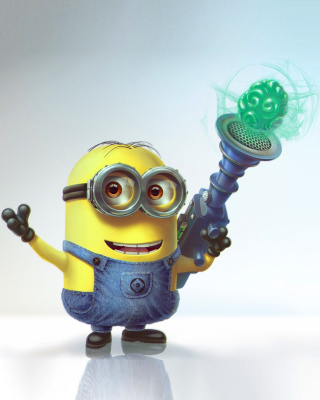 Minion with Laser Background for 240x400