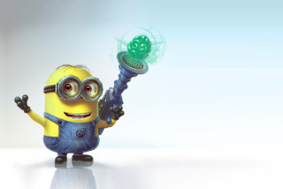 Minion with Laser Background for Android, iPhone and iPad