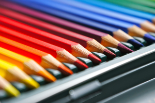 Coloured Pencils Wallpaper for Android, iPhone and iPad