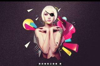 Blonde Girl Artwork Wallpaper for Android, iPhone and iPad