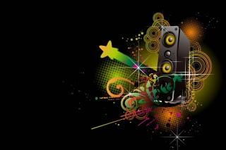 Music Speakers Abstraction Background for Android, iPhone and iPad