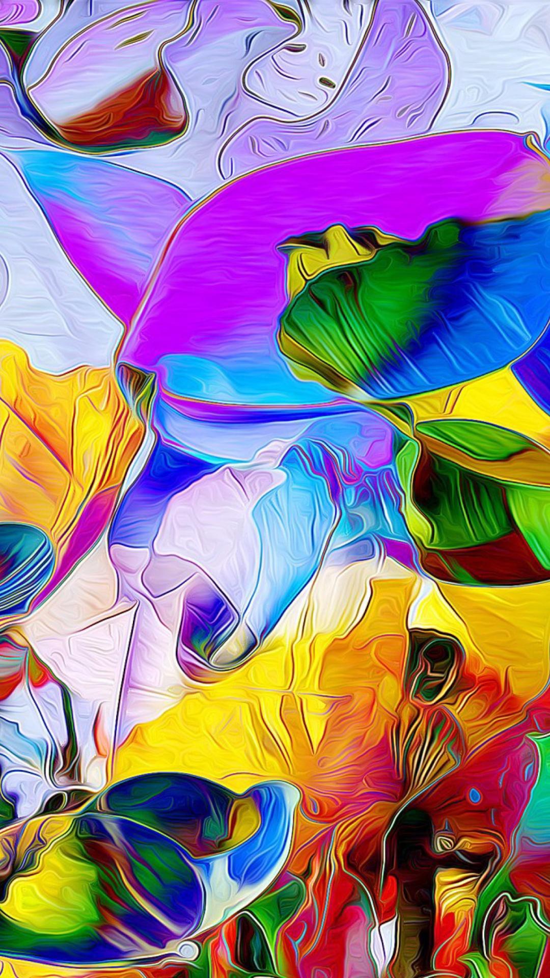 сад картинки разноцветные на смартфон масса денег оседает