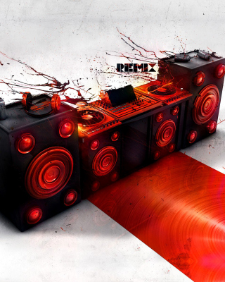 Powered DJ Speakers Background for Nokia Asha 306