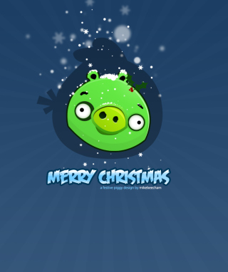 Green Piggi Merry Chirstmas Wallpaper for HTC Titan