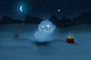 Furry Monster Background for Android, iPhone and iPad