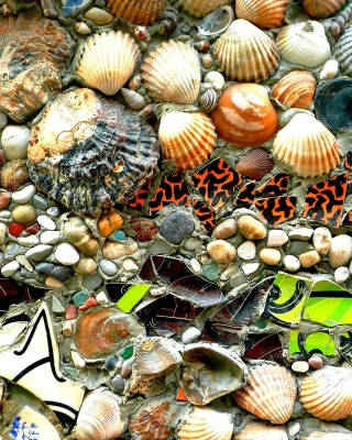 Kostenloses Shells and Pebbles Wallpaper für 320x480