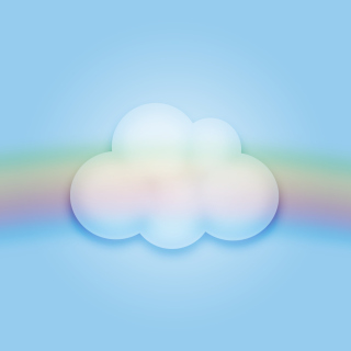 Cloud And Rainbow sfondi gratuiti per iPad Air