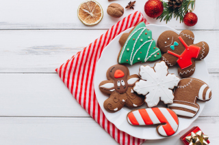 Homemade Christmas Cookies Background for Android, iPhone and iPad
