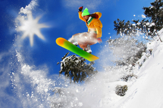 Extreme snow slope Background for Android, iPhone and iPad