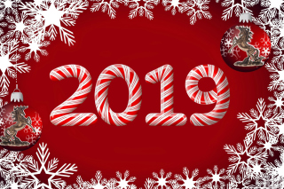 Kostenloses 2019 New Year Red Style Wallpaper für Fullscreen Desktop 1280x1024