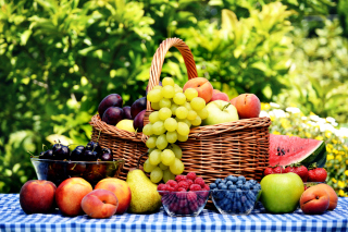 Organic Fruit Gift Basket Background for Android, iPhone and iPad